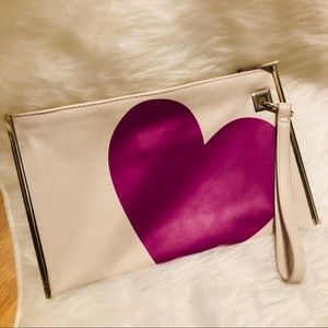 THE LIMITED  special edition Magenta heart clutch